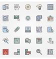 Internet security flat icons vector image vector image
