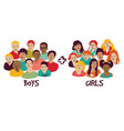 isolated group boys and girls vector image vector image