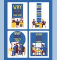 job interview employee and boss meeting vector image vector image