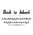 latin alphabet ink - badge back to school trend vector image