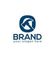 letter o hammer logo flat design vector image vector image