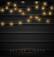 lights on wooden background vector image vector image