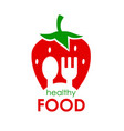 logo healthy food of vector image