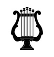 Lyre silhouette vector image vector image