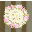 Marriage wreath vector image vector image