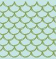 mermaid tail seamless pattern vector image vector image