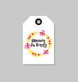 mothers day holiday card tag shape isolated with vector image vector image