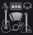 musical instruments childrens toys set vector image