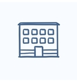 Office building sketch icon vector image