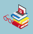 online education lesson learning concept laptop vector image vector image