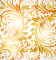 Orange Floral Background vector image vector image