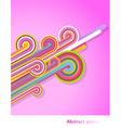 retro rainbow vector image vector image