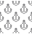 Retro seamless pattern with ship anchors vector image vector image