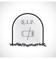 RIP coffin set vector image vector image