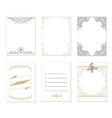 set 6 creative journaling cards vector image