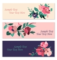 Set of invitation cards with flowers vector image vector image