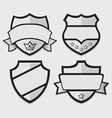 Set of silver retro badges vector image vector image