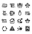 set technology icons such as music phone vector image vector image