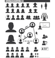 Set web icons people vector