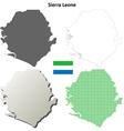 Sierra Leone outline map set vector image vector image