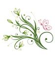 Snowdrop spring vector image vector image
