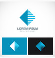 square stripe geometry technology logo vector image vector image