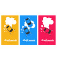 top view of a drifting car in flat banner set vector image vector image