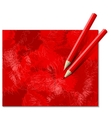 Two Red Pencils vector image vector image