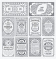 vintage set retro cards template greeting vector image vector image