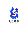 water logo letter s symbol and template vector image