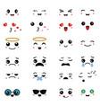 cartoon faces expressions cartoon faces vector image