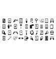 smartphone icon set simple style vector image