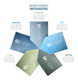 5 options business infographics strategy tags vector image vector image