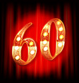 60th anniversary logo vector image
