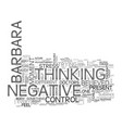 are you a negative thinker text word cloud concept