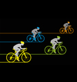 Bicycle Sprint vector image vector image