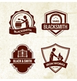 Blacksmith Emblems Set vector image vector image