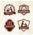 Blacksmith Emblems Set vector image