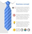 Business strategy presentation slide vector image vector image