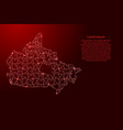 canada map from red pattern composed puzzles and vector image vector image