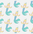 caticorn mermaid seamless pattern vector image