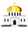 Church with dome vector image