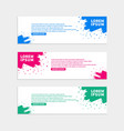 color brush banner template design vector image