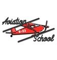 Color vintage Aviation emblem vector image