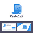 creative business card and logo template file vector image