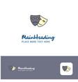 creative masks logo design flat color logo place vector image vector image