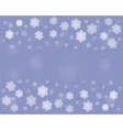 dark Christmas snowflakes background vector image