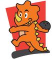 Dinosaur bowling vector image