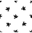 dove pattern seamless black vector image vector image