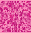 elegant pink seamless pattern with triangles vector image vector image